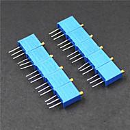 3296 potentiometri 3-nastainen 10kohm säädettävät vastukset - sininen (10 kpl)