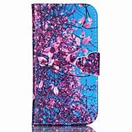 Недорогие Чехлы и кейсы для Galaxy S6 Edge Plus-Кейс для Назначение SSamsung Galaxy Кейс для  Samsung Galaxy Кошелек / Бумажник для карт / со стендом Чехол Цветы Кожа PU для S6 edge plus / S6 / S5 Mini