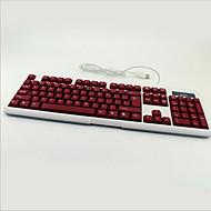 Gra światła kolorowe podświetlenie wodoodporny pulpit wyciszenie notebooka USB przewodowa klawiatura
