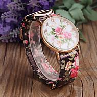 Недорогие Женские часы-Жен. Модные часы Кварцевый Повседневные часы PU Группа Цветы Черный Белый Зеленый Розовый Фиолетовый Разноцветный