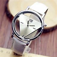 cheap Fashion Watches-Women's Fashion Watch Quartz Casual Watch PU Band Elegant Black White Blue Red