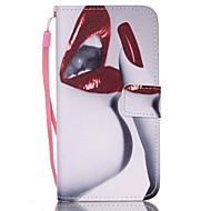 Недорогие Чехлы и кейсы для Galaxy S-Для Кейс для  Samsung Galaxy Бумажник для карт / Кошелек / со стендом / Флип Кейс для Чехол Кейс для Соблазнительная девушкаИскусственная