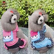 Psi Kaputi Jumpsuits Plav Rose Odjeća za psa Zima Proljeće/Jesen Na točkice Ležerno/za svaki dan