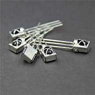 お買い得  Arduino 用アクセサリー-金属シェルとユニバーサル赤外線レシーバ - 銀(5個)
