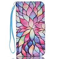 Недорогие Чехлы и кейсы для Galaxy S7-Кейс для Назначение SSamsung Galaxy Кейс для  Samsung Galaxy Кошелек / Бумажник для карт / со стендом Чехол Цветы Кожа PU для S8 Plus / S8 / S7 edge