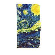 Случай для яблока iphone 7 7 плюс iphone 6s 6 плюс крышка случая звездное небо картины pu кожаные случаи для iphone se 5s 5c 5 iphone 4s 4
