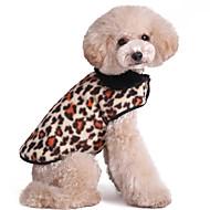 Kissa Koira Liivi Koiran vaatteet Pidä Lämmin Muoti Matta musta Punainen Pinkki Naamiointiväri Kultainen Leopardi Asu Lemmikit