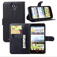 お買い得  携帯電話ケース-ケース 用途 Lenovo Lenovoケース カードホルダー ウォレット スタンド付き フリップ フルボディーケース 純色 ハード PUレザー のために