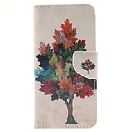 Для Samsung Galaxy Note Бумажник для карт / Кошелек / со стендом / Флип Кейс для Чехол Кейс для дерево Искусственная кожа Samsung Note 5