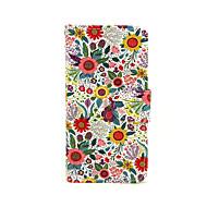 Недорогие Кейсы для iPhone-Кейс для Назначение iPhone 5 Apple Кейс для iPhone 5 Бумажник для карт Кошелек со стендом Флип С узором Чехол Цветы Твердый Кожа PU для