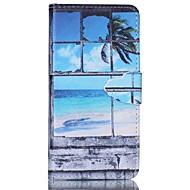 Varten Samsung Galaxy kotelo Korttikotelo / Tuella / Flip / Magneetti / Kuvio Etui Kokonaan peittävä Etui Maisema Tekonahka SamsungA5 /
