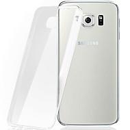Недорогие Чехлы и кейсы для Galaxy S-Кейс для Назначение SSamsung Galaxy Кейс для  Samsung Galaxy Прозрачный Кейс на заднюю панель Сплошной цвет ТПУ для S7 edge / S7 / S6 edge plus