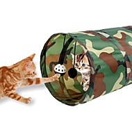 Igračka za mačku Igračke za kućne ljubimce Cijevi i tuneli Može se sklopiti Zvono TekstilPlava Camouflage boji Plava/crvena Zebra/Strip