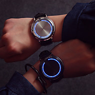 Large Dial LED Touch Screen Couple Watches Men Luxury Watch Women Dress Quartz Clocks Vintage Strap Watch Cool Watches Unique Watches