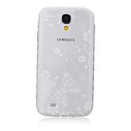 voordelige Galaxy S6 Edge Plus Hoesjes / covers-Voor Samsung Galaxy hoesje Transparant / Patroon hoesje Achterkantje hoesje Vlinder TPU SamsungS6 edge plus / S6 edge / S6 / S5 Mini / S5