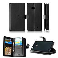 お買い得  携帯電話ケース-ケース 用途 Nokia Nokiakケース フルボディケース スタンド付き Other 純色 スペシャルデザイン PUレザー TPU のために
