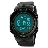 Недорогие Фирменные часы-SKMEI Муж. Спортивные часы Наручные часы Цифровой 50 m Защита от влаги Будильник Календарь PU Группа Цифровой Кулоны Черный - Белый Зеленый Синий Два года Срок службы батареи / Секундомер