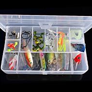 お買い得  釣り用アクセサリー-45 pcs ルアー ミノウ 硬質プラスチック 海釣り / ベイトキャスティング / 鯉釣り / ルアー釣り / 一般的な釣り / 流し釣り / 船釣り