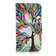 Недорогие Чехлы и кейсы для Galaxy Ace 4-Кейс для Назначение SSamsung Galaxy Кейс для  Samsung Galaxy Бумажник для карт Кошелек со стендом Флип С узором Чехол дерево Кожа PU для