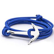 Heren Dames Bedelarmbanden Vriendschap armbanden Wikkelarmbanden Basisontwerp Vriendschap Modieus Legering Anker Sieraden Voor Dagelijks