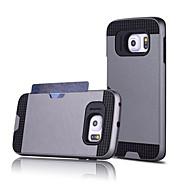 Недорогие Чехлы и кейсы для Galaxy S6 Edge Plus-Кейс для Назначение SSamsung Galaxy Кейс для  Samsung Galaxy Бумажник для карт Кейс на заднюю панель Однотонный ПК для S7 edge / S7 / S6 edge plus