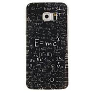 Недорогие Чехлы и кейсы для Galaxy S6 Edge Plus-Кейс для Назначение SSamsung Galaxy Кейс для  Samsung Galaxy С узором Кейс на заднюю панель Слова / выражения ТПУ для S6 edge plus S6