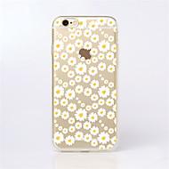 billiga iPhone 8 och Plus-fodral-fodral Till Apple iPhone X / iPhone 8 / iPhone 6 Plus Mönster Skal Blomma Mjukt TPU för iPhone X / iPhone 8 Plus / iPhone 8