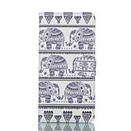 billige Etuier / covers til Galaxy S-modellerne-Etui Til Samsung Galaxy Samsung Galaxy etui Kortholder Pung Med stativ Flip Fuldt etui Elefant PU Læder for S6 edge S6 S5 Mini S5