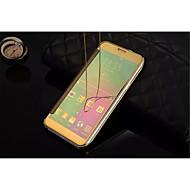 Недорогие Чехлы и кейсы для Galaxy A8-Кейс для Назначение SSamsung Galaxy Кейс для  Samsung Galaxy Зеркальная поверхность Флип Прозрачный Чехол Сплошной цвет ПК для A9(2016)