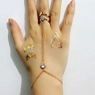 Női Gyűrű karkötők Strassz utánzat Diamond Ötvözet minimalista stílusú Divat Aranyozott Ékszerek 1db