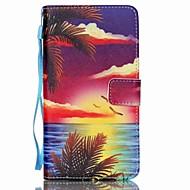 For Samsung Galaxy Note Kortholder / Pung / Med stativ / Flip Etui Heldækkende Etui Landskab Kunstlæder Samsung Note 5 / Note 4