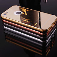 abordables Accesorios para Apple-Funda Para Apple iPhone 6 iPhone 6 Plus Funda iPhone 5 Cromado Espejo Cubierta Trasera Color sólido Dura Fibra acrílica para iPhone 6s