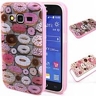 Для Кейс для  Samsung Galaxy Защита от удара / Полупрозрачный / С узором Кейс для Задняя крышка Кейс для Мультяшная тематика TPU Samsung