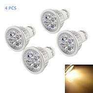 4W GU10 LED szpotlámpák A50 4 led Nagyteljesítményű LED Tompítható Dekoratív Meleg fehér 320-350lm 3500K AC 110-130V