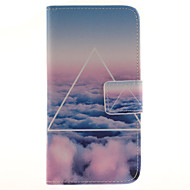 Для Кейс для  Samsung Galaxy Бумажник для карт / Кошелек / со стендом / Флип / С узором Кейс для Чехол Кейс для Пейзаж Искусственная кожа
