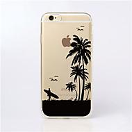 Недорогие Кейсы для iPhone 8 Plus-Кейс для Назначение Apple iPhone X / iPhone 8 / Кейс для iPhone 5 Прозрачный / С узором Кейс на заднюю панель Пейзаж Мягкий ТПУ для iPhone X / iPhone 8 Pluss / iPhone 8