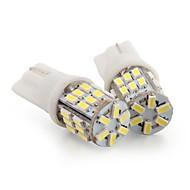 2 * T10 30 LED 3014 SMD White Car Wedge Side License Plate Light Bulb Lamp