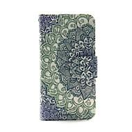 flor gradiente de la PU billetera de cuero caso de cuerpo completo para el tacto 5.6