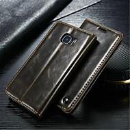 Para Samsung Galaxy Capinhas Carteira / Porta-Cartão / Com Suporte / Flip Capinha Corpo Inteiro Capinha Cor Única Couro Legitimo Samsung