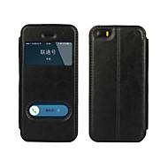 Назначение iPhone 8 iPhone 8 Plus Кейс для iPhone 5 Чехлы панели со стендом с окошком Флип Чехол Кейс для Сплошной цвет Твердый