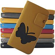 Недорогие Чехлы и кейсы для Galaxy S-Кейс для Назначение SSamsung Galaxy Кейс для  Samsung Galaxy Бумажник для карт Кошелек со стендом Флип Чехол Бабочка Кожа PU для S4