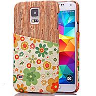 Na Samsung Galaxy Etui Etui na karty Kılıf Etui na tył Kılıf Tekstura drewna Skóra PU Samsung S5 Mini / S5 / S4