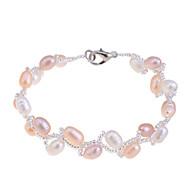 Dame Strand Armbånd Unikt design Mode Perle Imiteret Perle Pink perle Smykker Smykker Til Fest Daglig Afslappet