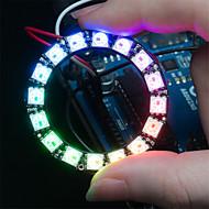 halpa Arduino-tarvikkeet-ws2812 5050 rgb 16 johtamien pyöreä lamppu Development Board - musta