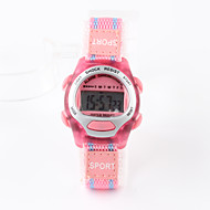 cheap Girl's Watches-Children's Digital Watch Fashion Watch Sport Watch Digital Water Resistant / Water Proof Fabric Band Charm Pink