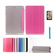 Недорогие Чехлы и кейсы для Galaxy Tab S 10.5-Для со стендом / С функцией автовывода из режима сна / Флип / Магнитный Кейс для Чехол Кейс для Один цвет Твердый Искусственная кожа