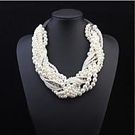 お買い得  -女性用 真珠 レイヤード ステートメントネックレス / レイヤードネックレス / パールネックレス  -  真珠 欧風, ファッション, ステートメント スクリーンカラー ネックレス 用途