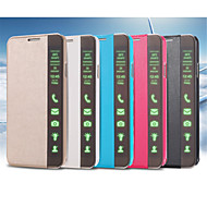 Для Samsung Galaxy Note со стендом / С функцией автовывода из режима сна / Флип Кейс для Чехол Кейс для Один цвет Искусственная кожа