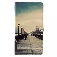 Для Кейс для  Samsung Galaxy Кошелек / Бумажник для карт / со стендом / Флип Кейс для Чехол Кейс для Панорама города Искусственная кожа