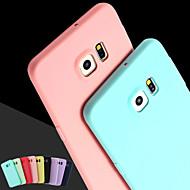 お買い得  Samsung 用 ケース/カバー-ケース 用途 Samsung Galaxy Samsung Galaxy ケース バックカバー ソリッド シリコーン のために S6 edge plus / S6 edge / S6